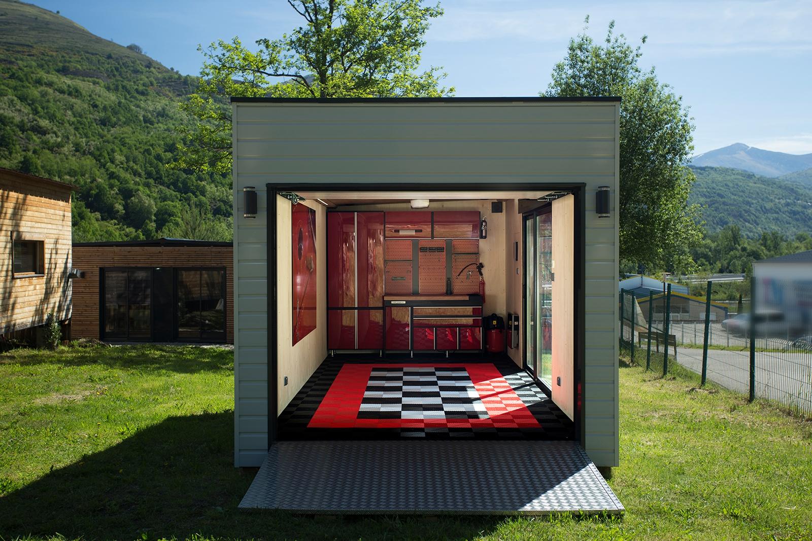 <h6>INNO'KUB Garage / version modulaire / 1 place </h6>